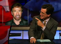 Stephen Colbert and Chuck Norris have it out.
